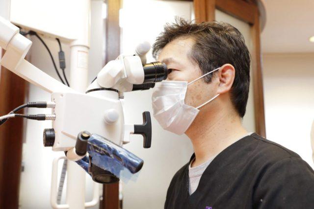 マイクロスコープによる虫歯治療